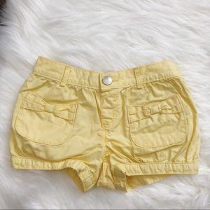 Gymboree Toddler Girls Yellow Bow Shorts 3t EUC